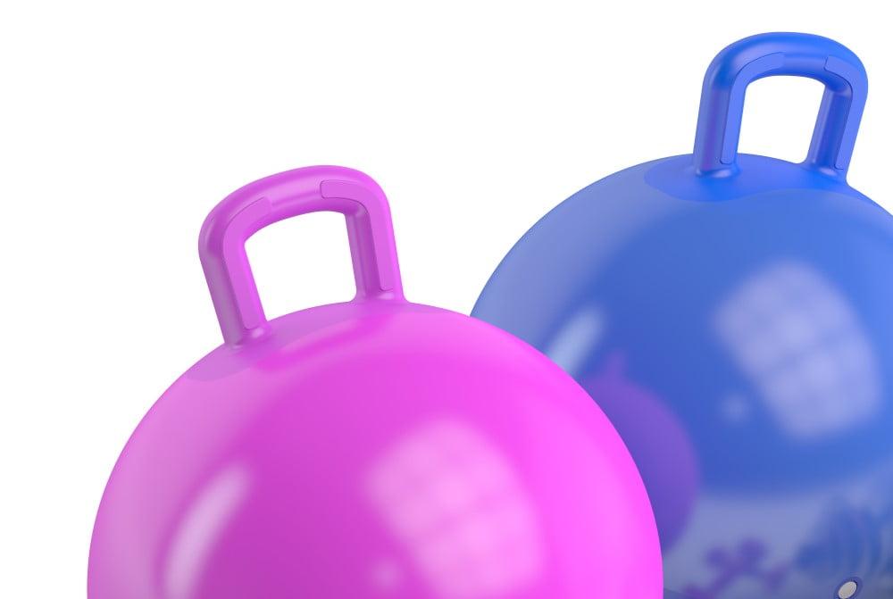 Hoppebold med håndtag